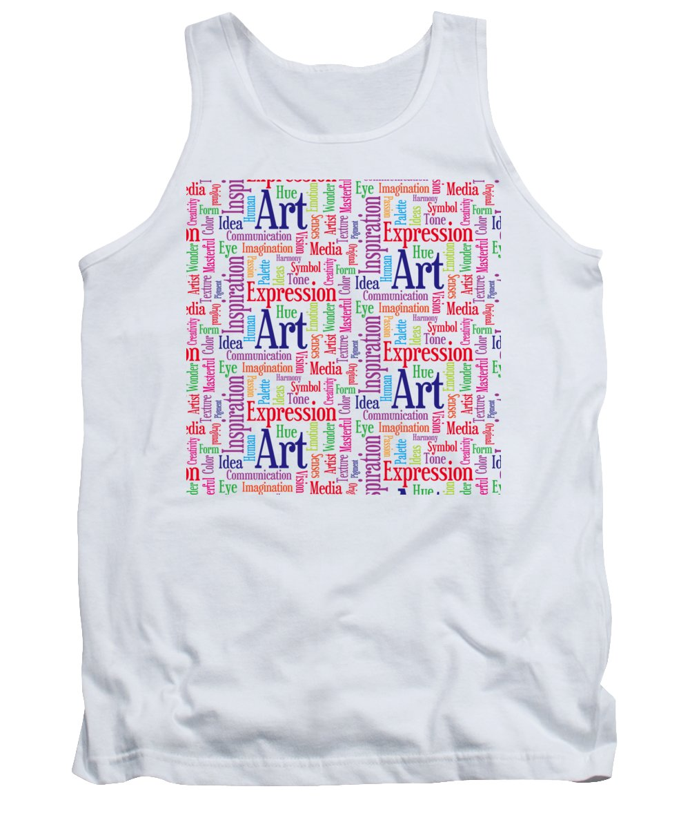 Art Tank Top featuring the digital art Art And Inspiration Pattern by Antique Images