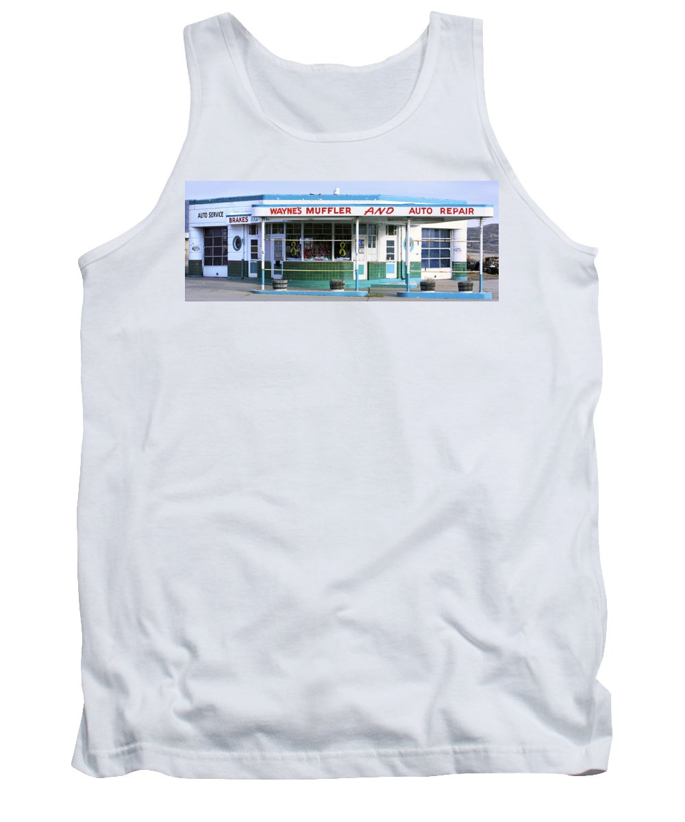 Americana Tank Top featuring the photograph Art Deco Filling Station 1 by Marilyn Hunt