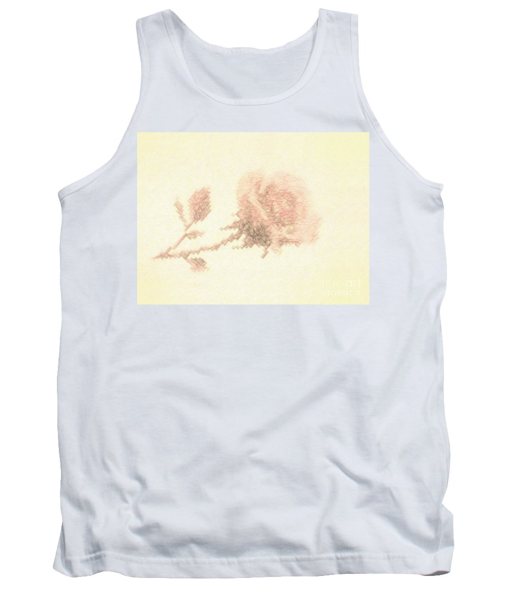 Flower Tank Top featuring the photograph Artistic Etched Rose by Linda Phelps