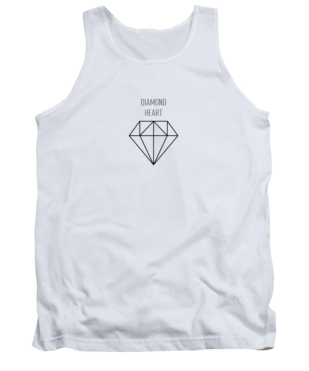 Background Tank Top featuring the drawing Pattern With Diamonds by Alina Krysko