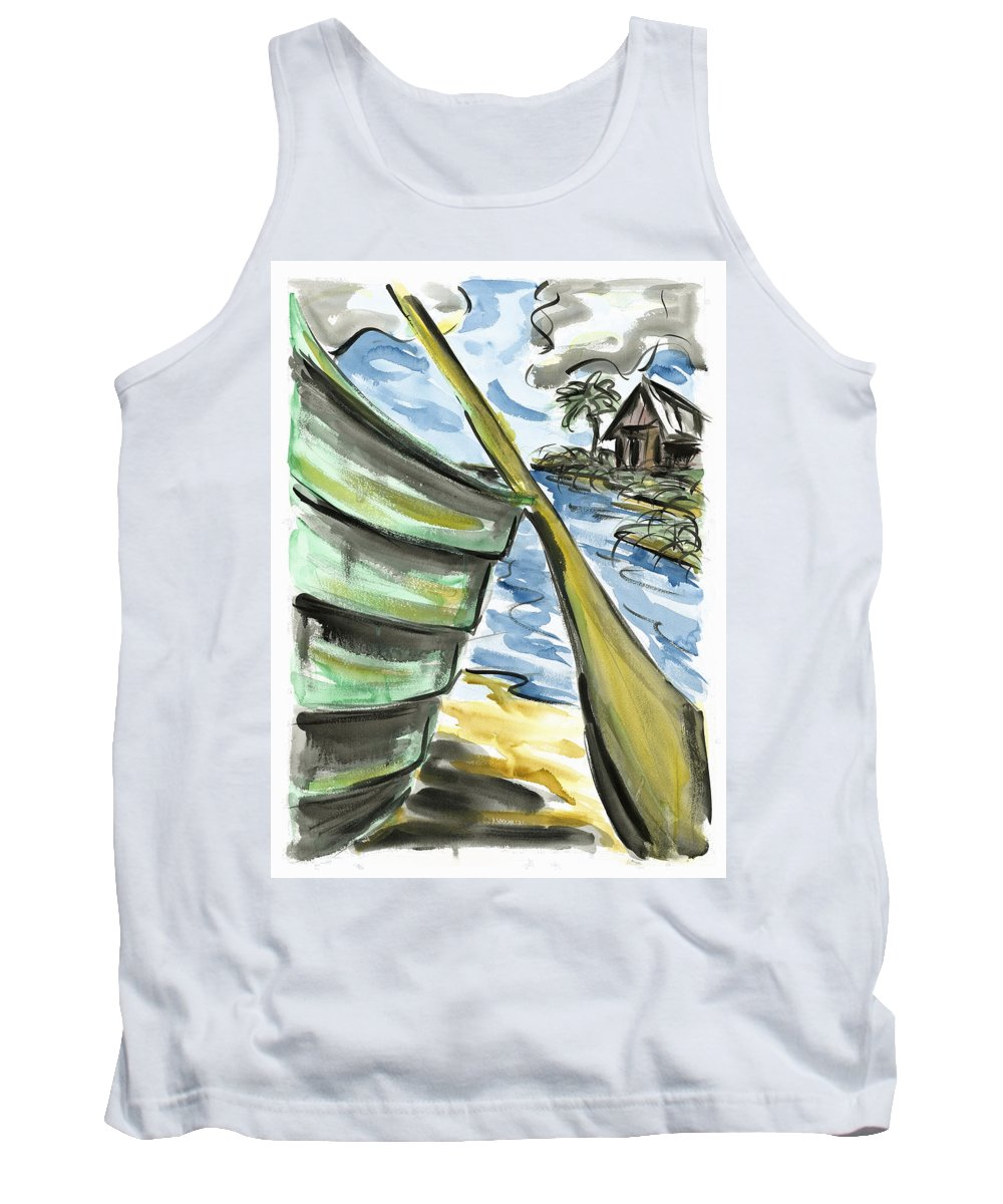 Seascape Tank Top featuring the painting Ashore by Robert Joyner