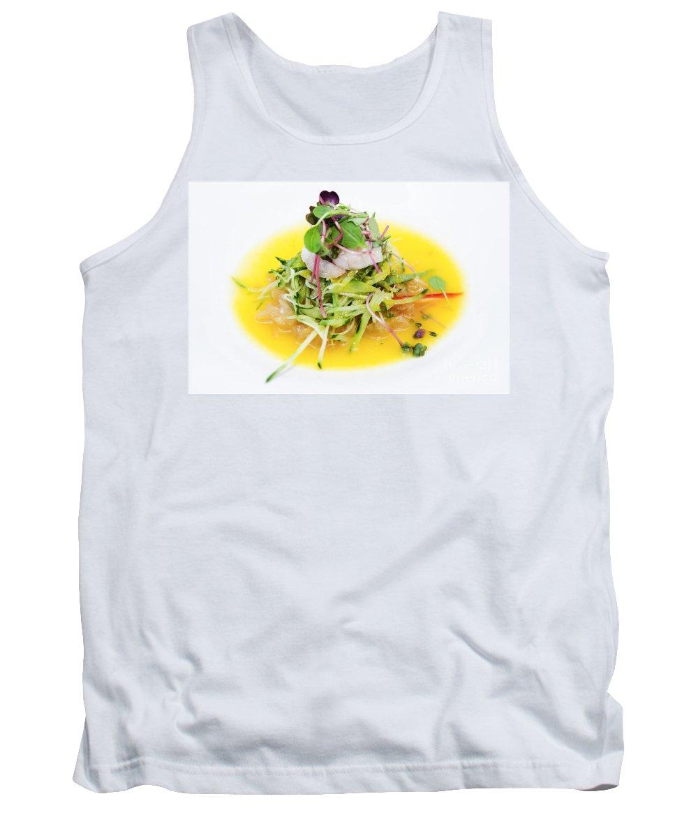 Asia Tank Top featuring the photograph Asian Korean Fusion Fresh Prawn Salad by Jacek Malipan