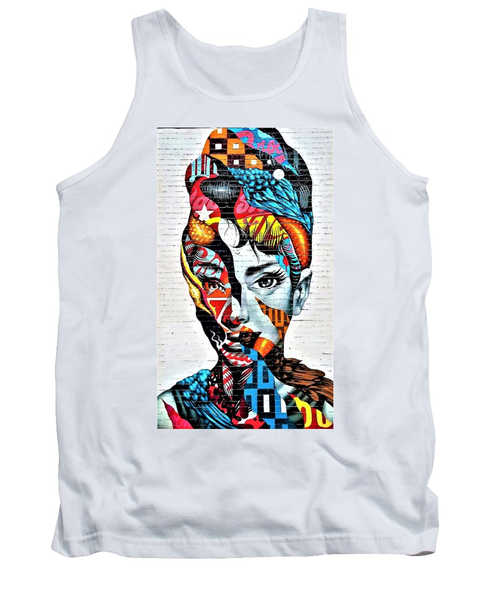 Architecture Tank Top featuring the photograph Audrey Hepburn Mural by Rob Hans