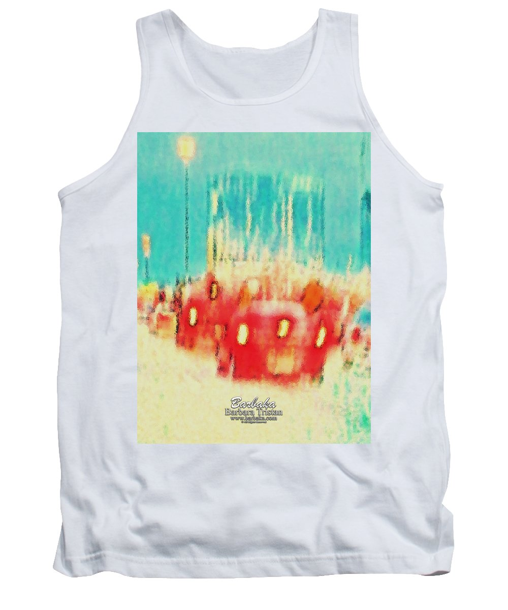 Art Tank Top featuring the photograph Austin Traffic by Barbara Tristan