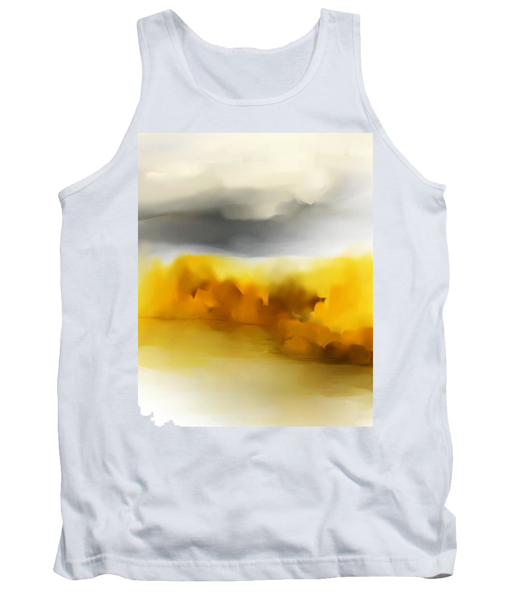 Landscape Tank Top featuring the digital art Autumn Along The River by David Lane