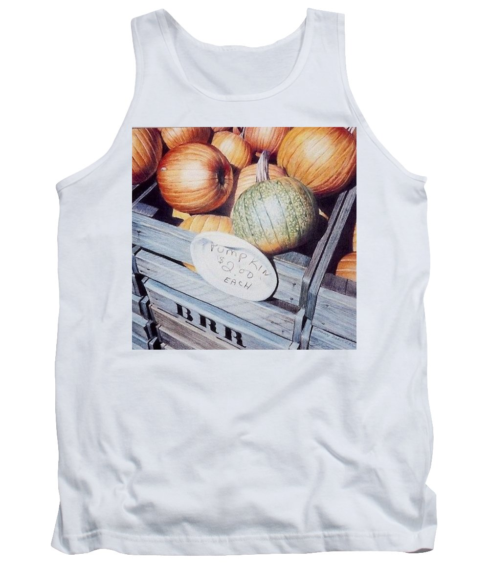 Orange Tank Top featuring the painting Autumn by Constance Drescher