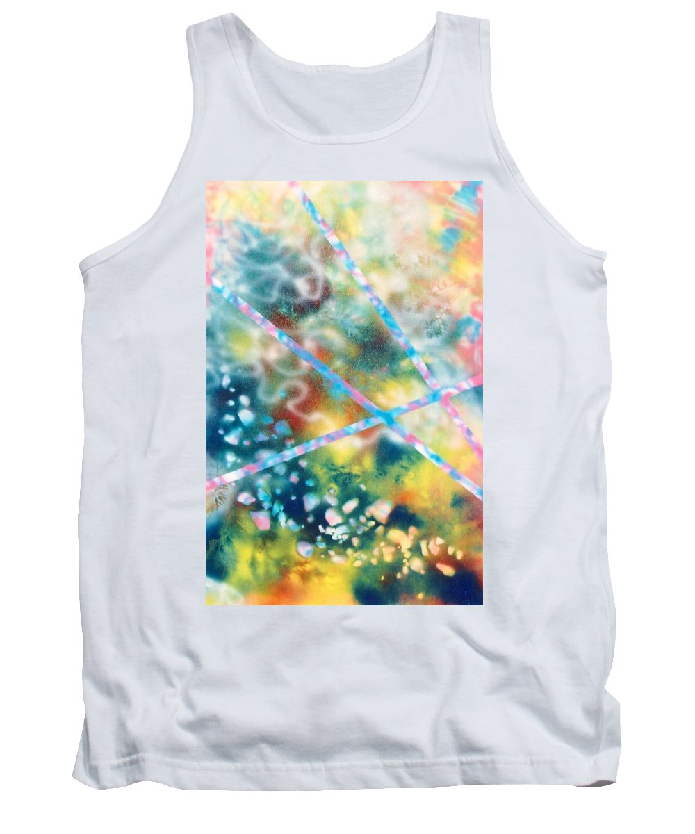 Abstract Tank Top featuring the painting Autumn by Micah Guenther