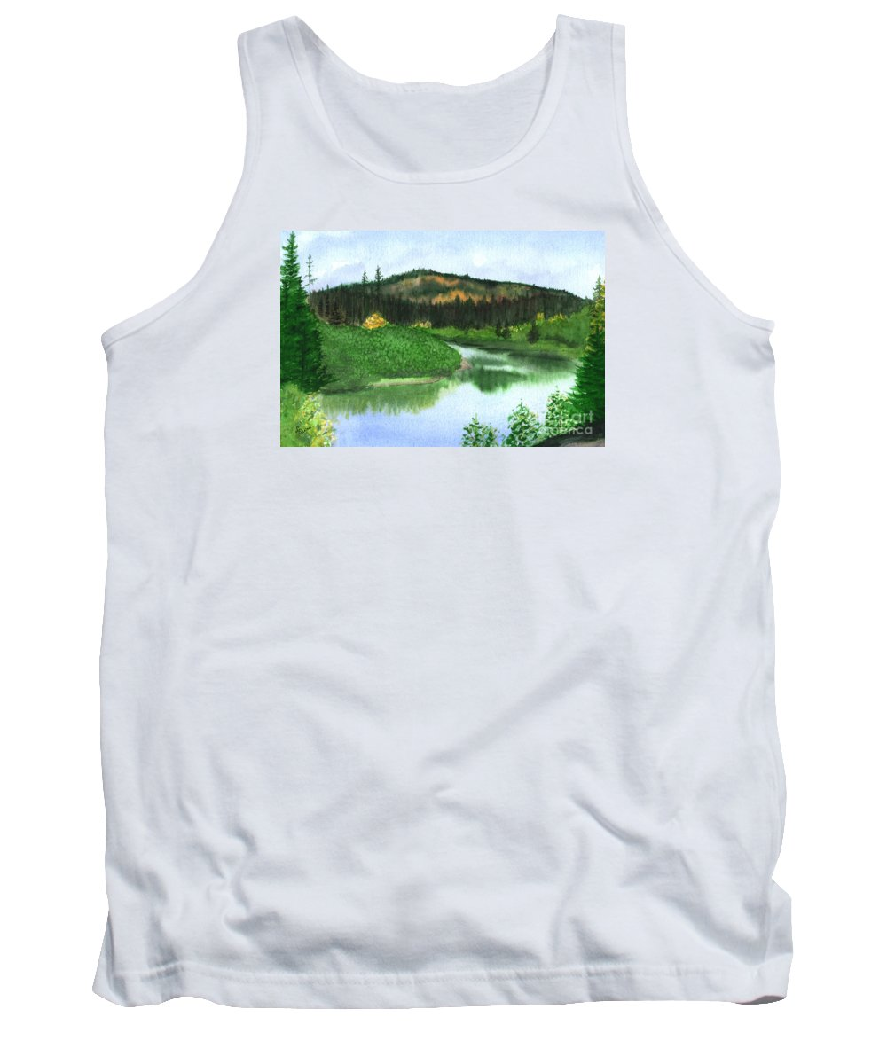 Autumn Tank Top featuring the painting Autumn Transition by Lynn Quinn