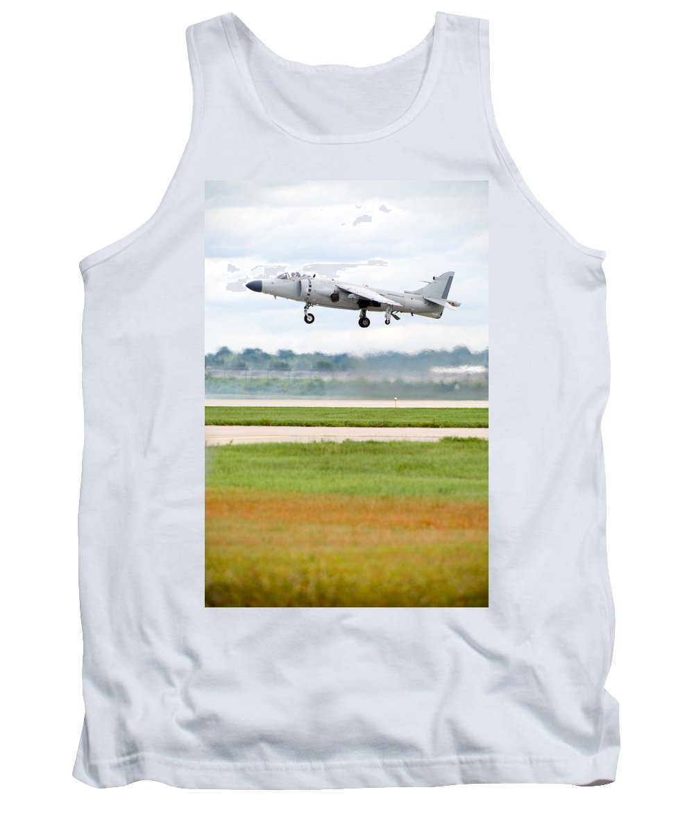 Airplane Tank Top featuring the photograph Av-8 Harrier by Sebastian Musial