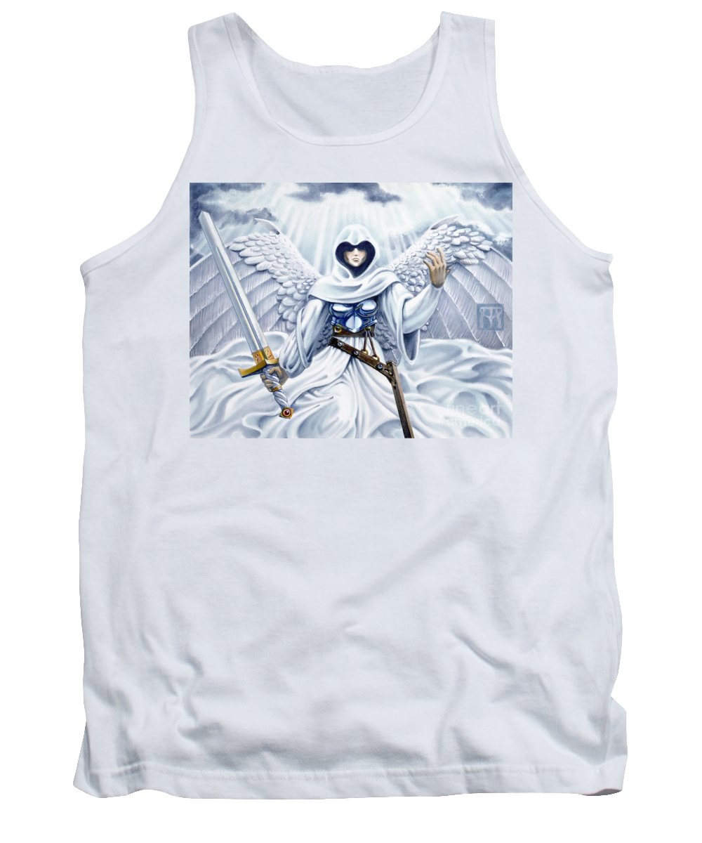 Angel Tank Top featuring the painting Avenging Angel by Melissa A Benson