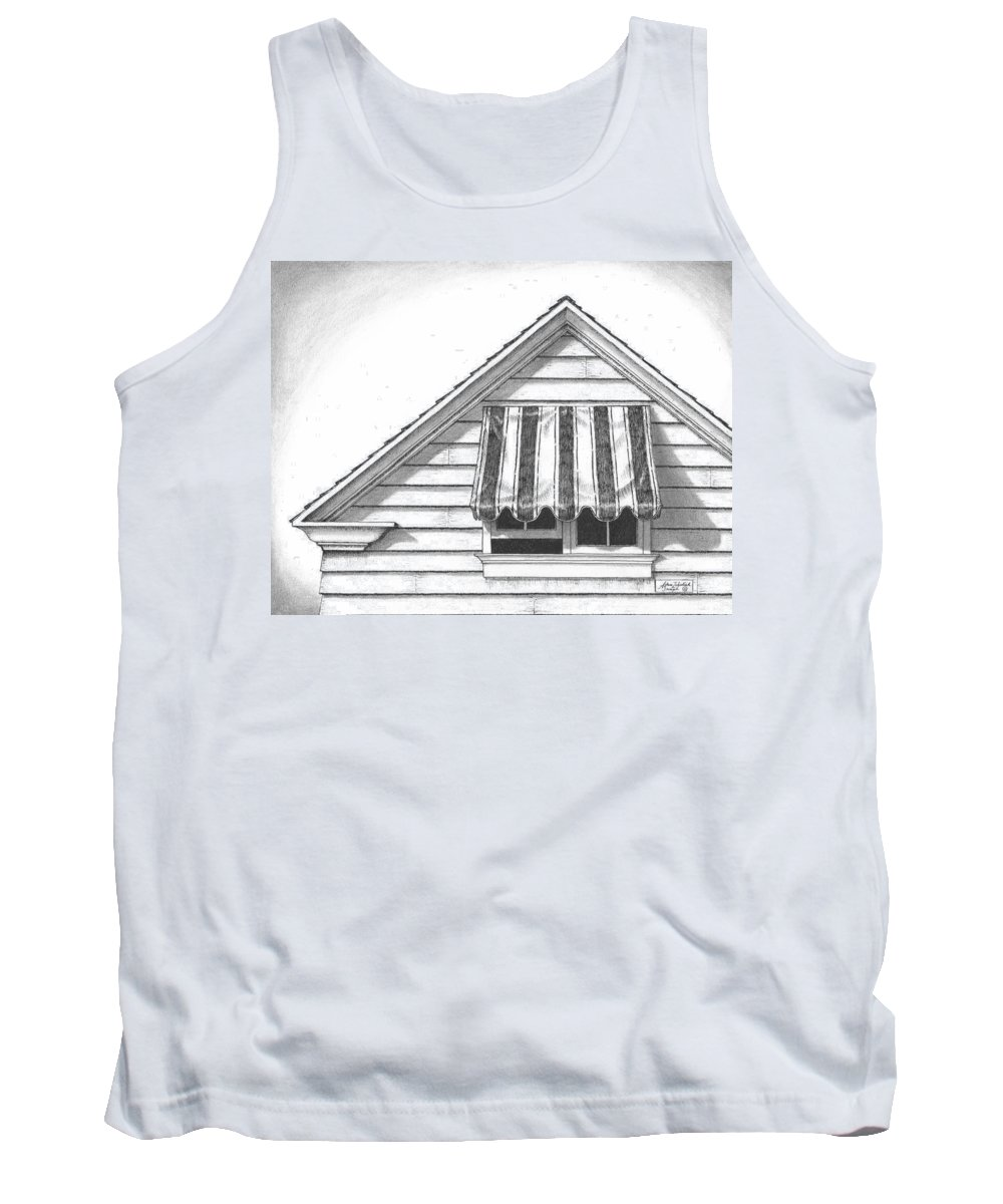 Art Tank Top featuring the drawing Awning by Adam Zebediah Joseph
