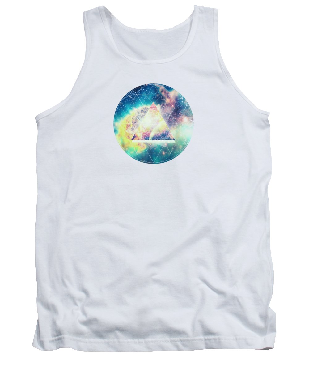 Space Tank Top featuring the digital art Awsome Collosal Deep Space Triangle Art Sign by Philipp Rietz