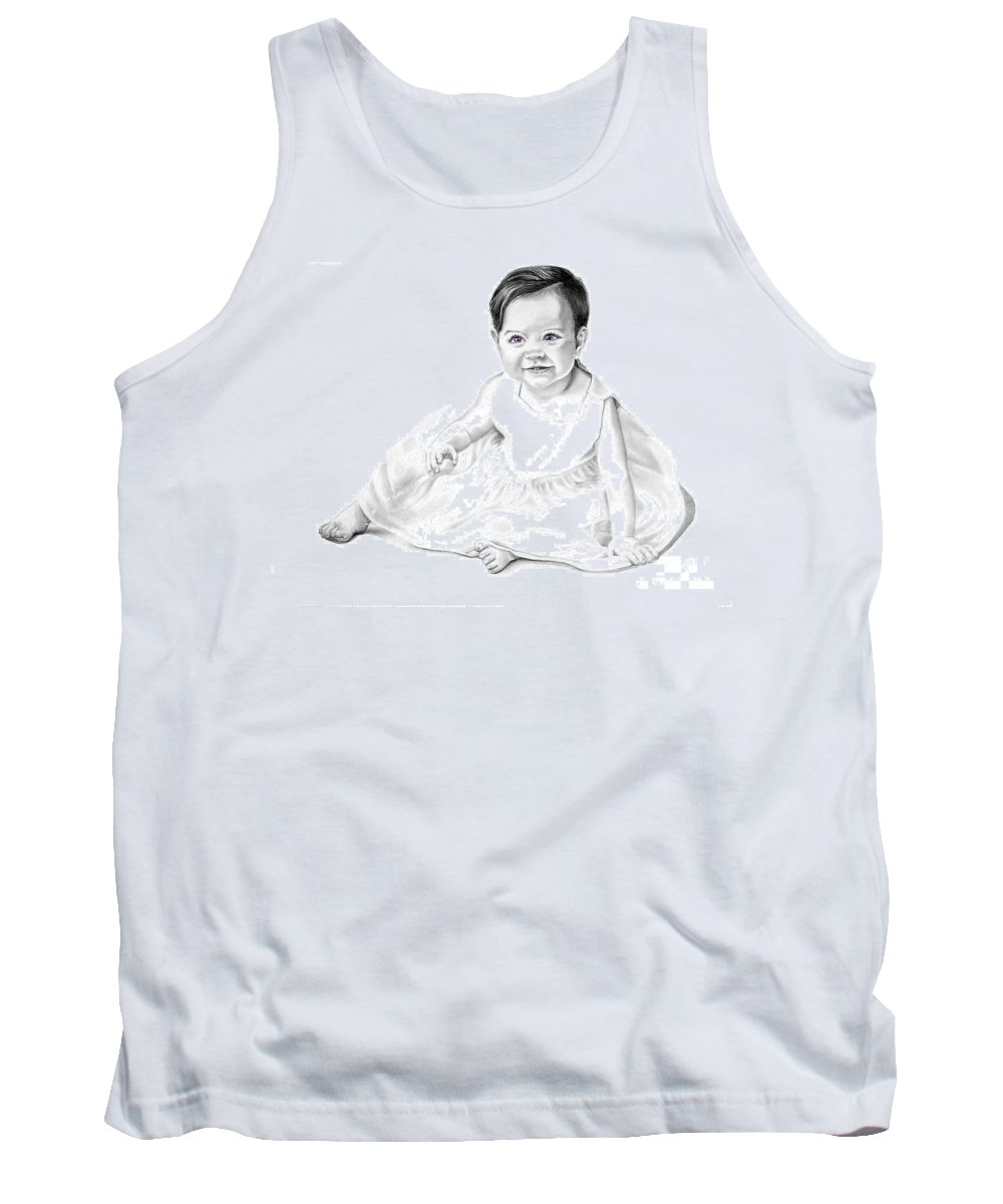 Baby Tank Top featuring the drawing Baby Jane by Murphy Elliott