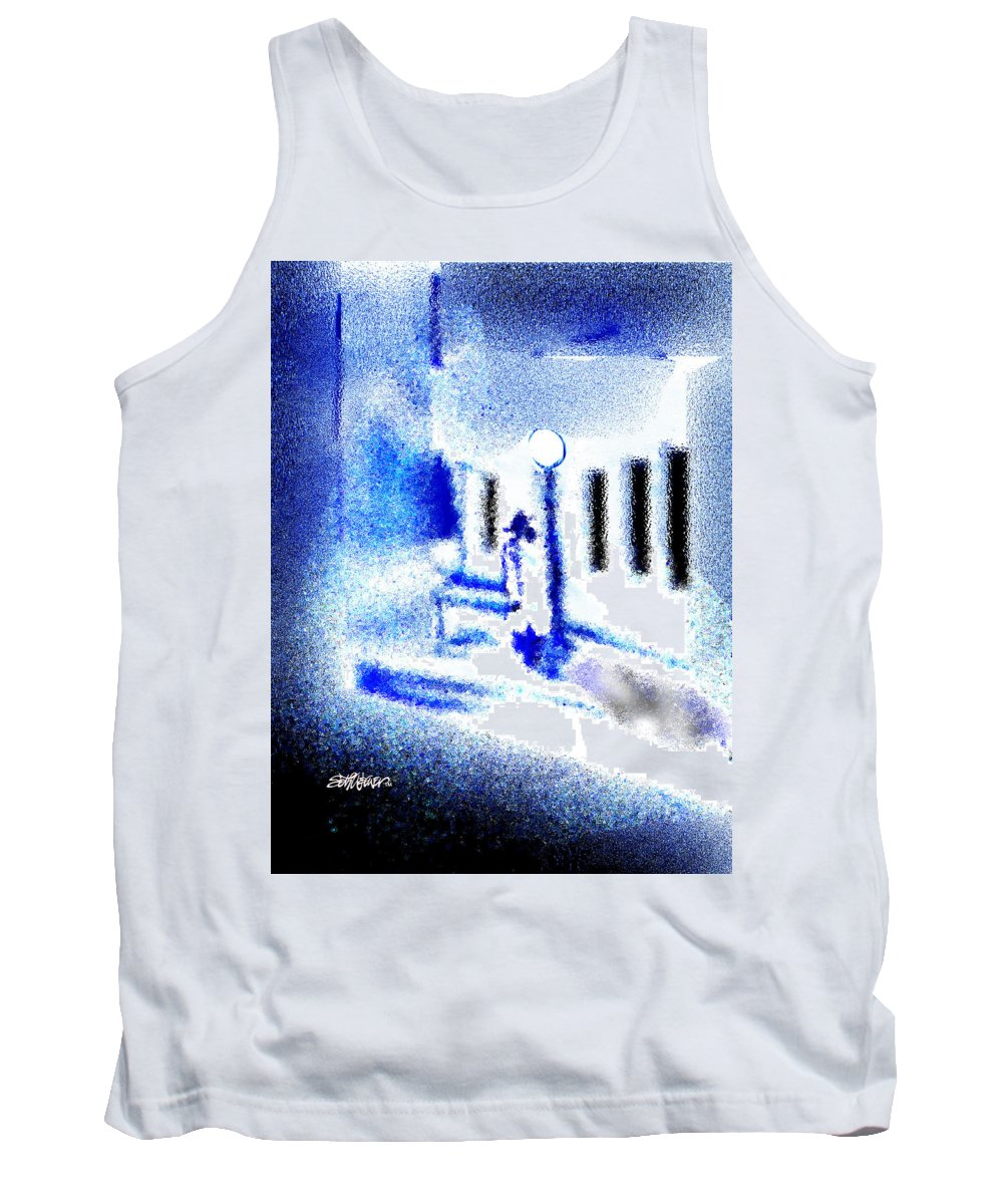 Back Alley Tank Top featuring the digital art Back Alley Rendezvous by Seth Weaver