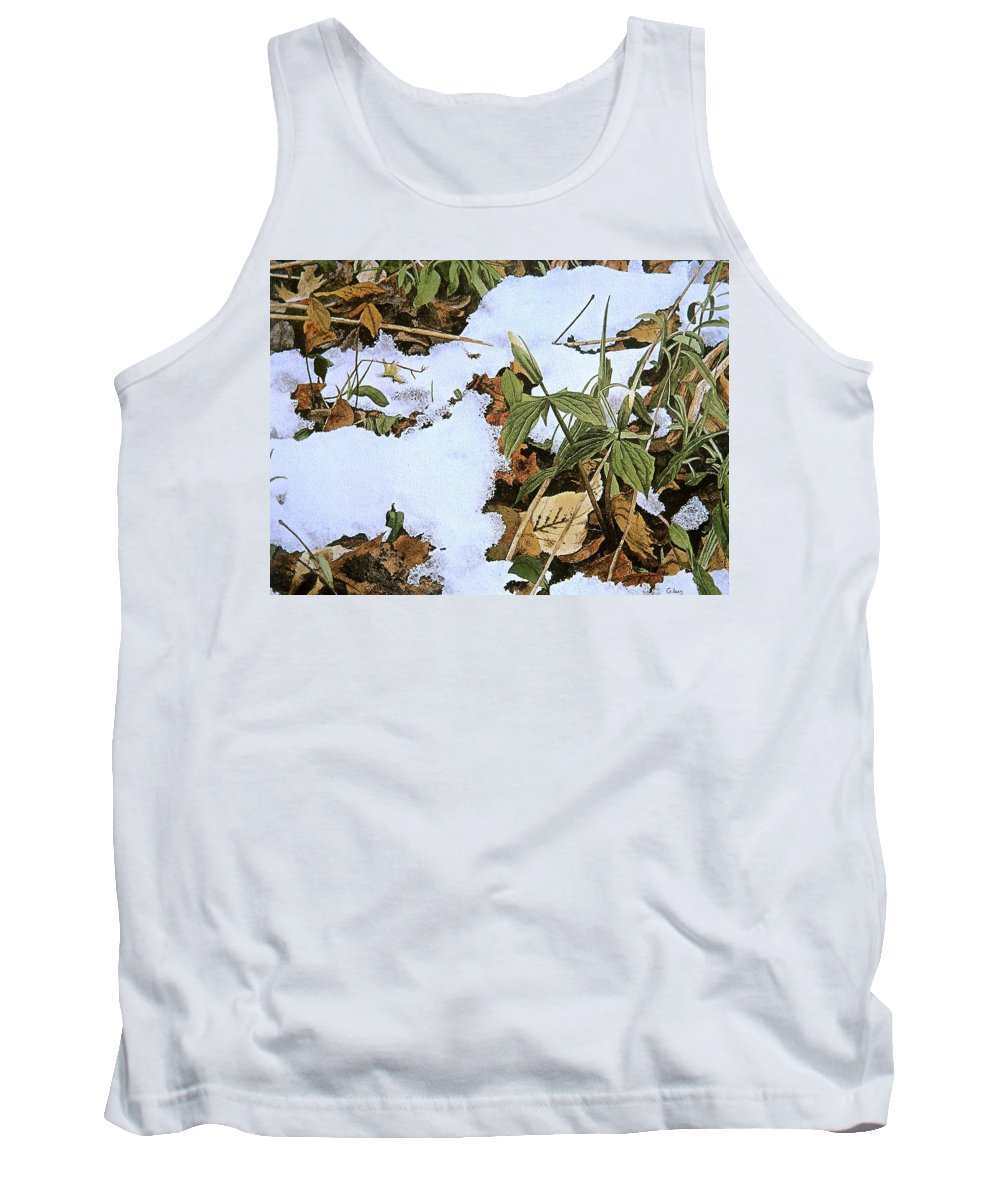 Still Life Tank Top featuring the painting Back Forty by Conrad Mieschke