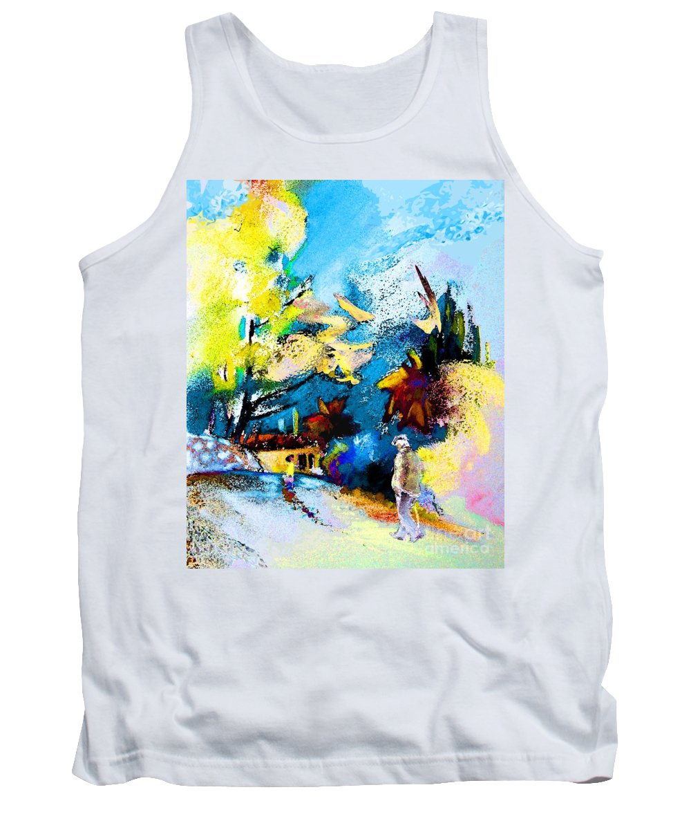 Pastel Painting Tank Top featuring the painting Back Home by Miki De Goodaboom