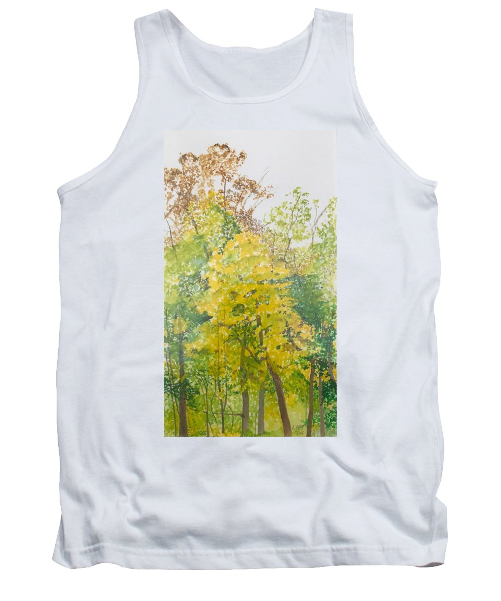 Autumn Tank Top featuring the painting Backyard by Leah Tomaino