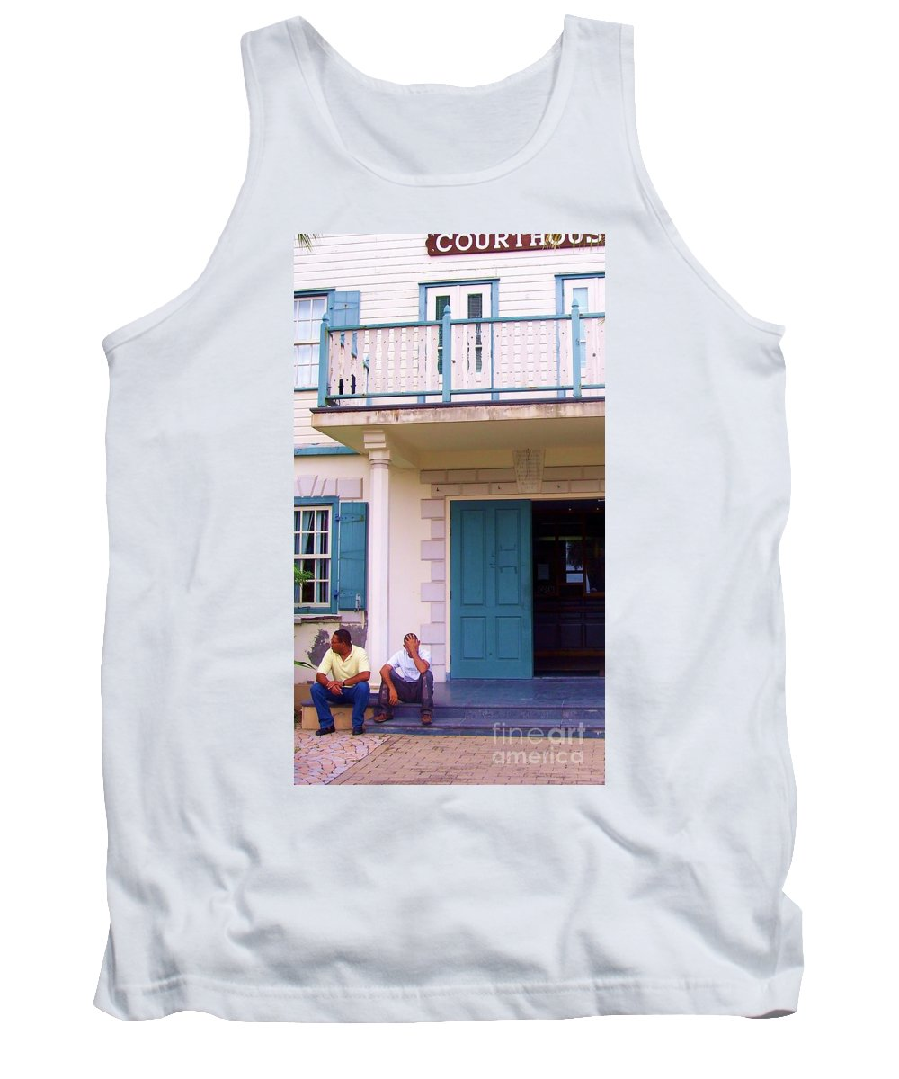 Building Tank Top featuring the photograph Bad Day in Court by Debbi Granruth