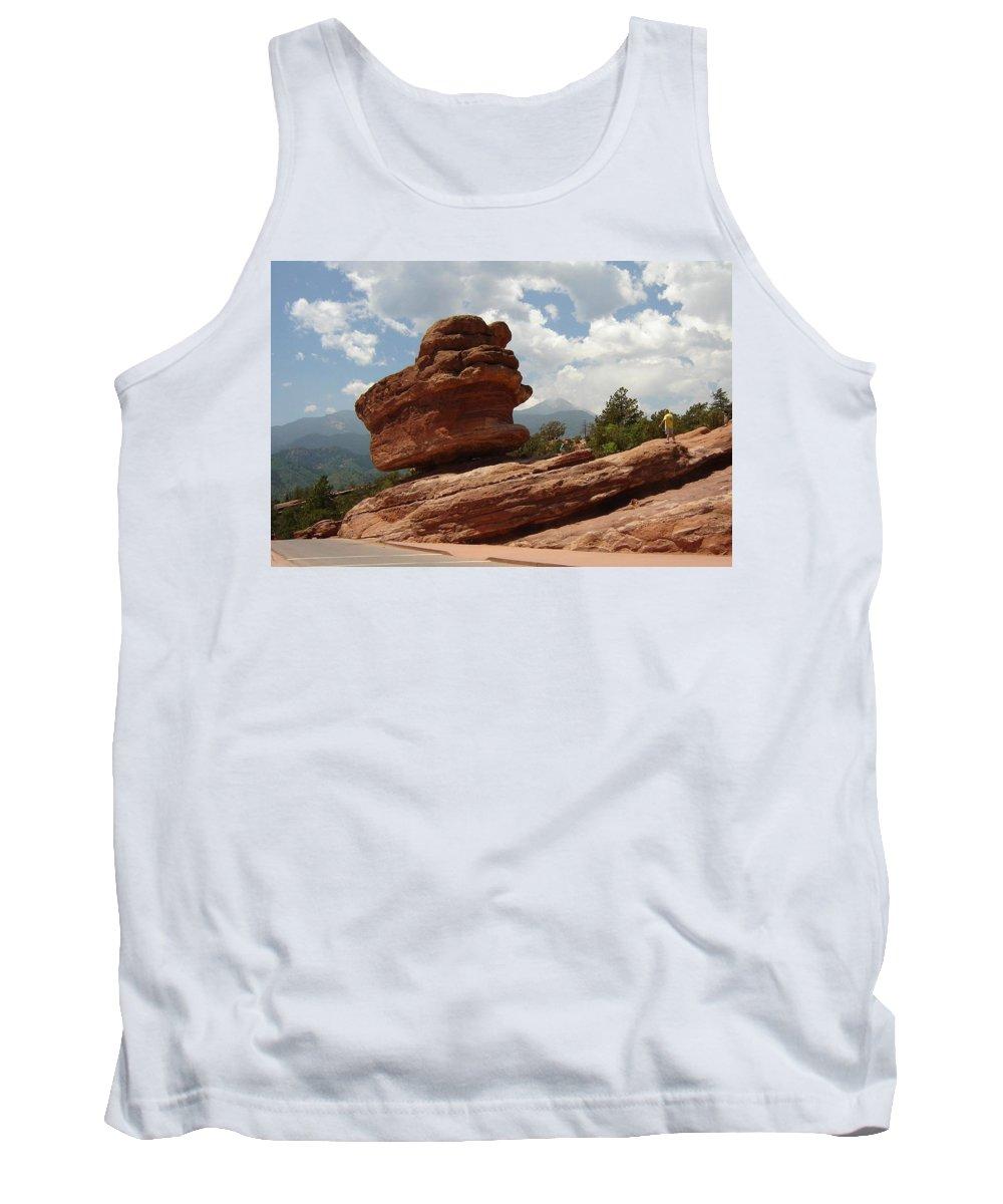 Colorado Tank Top featuring the photograph Balance Rock by Anita Burgermeister