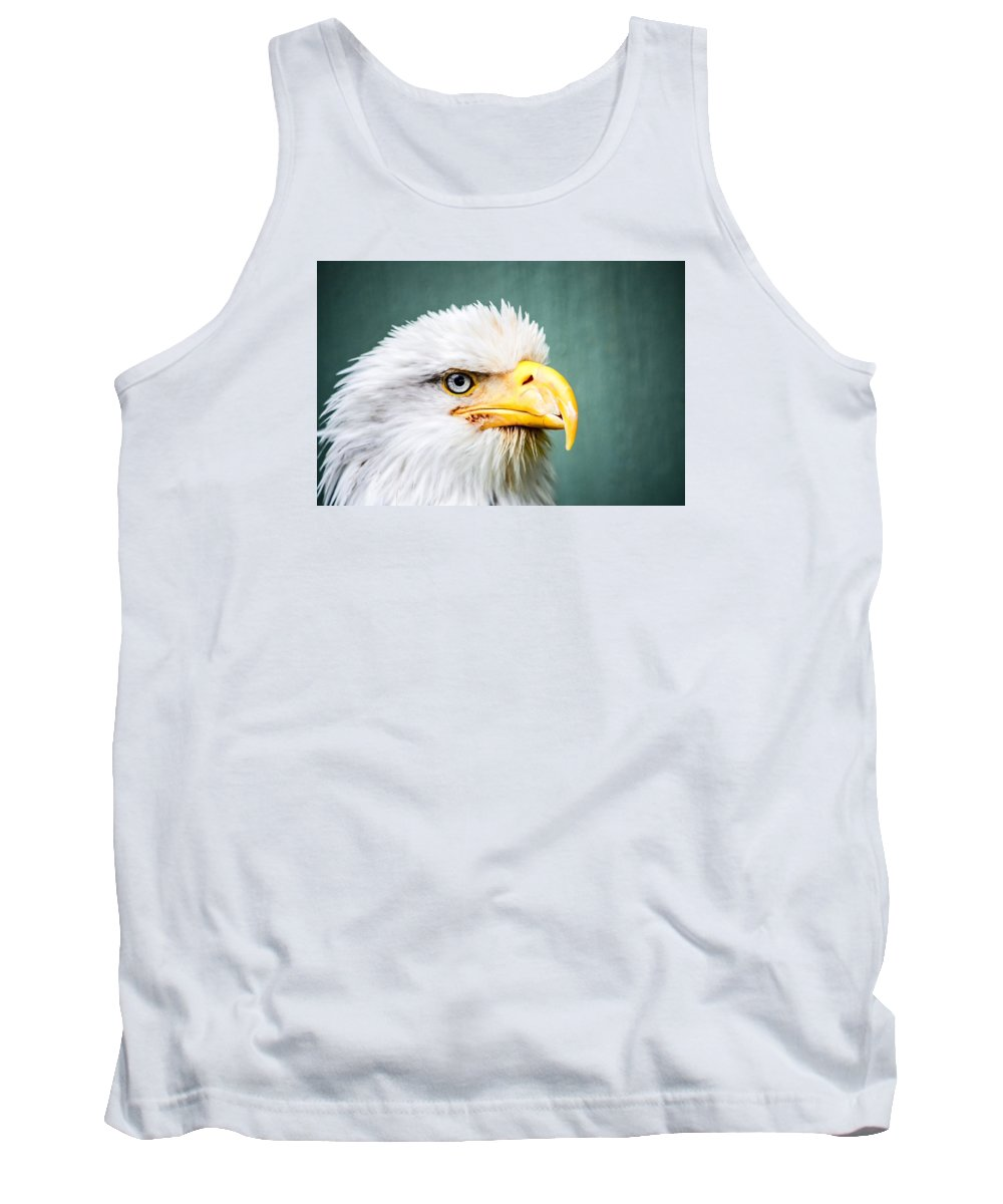Alaska Tank Top featuring the photograph Bald Eagle by Shutter Click Photography