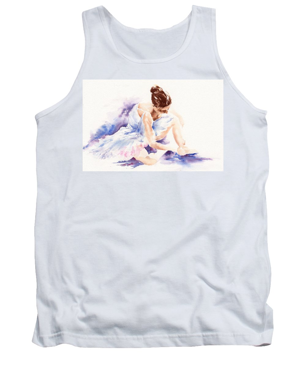 Ballerina Tank Top featuring the painting Ballerina by Stephie Butler