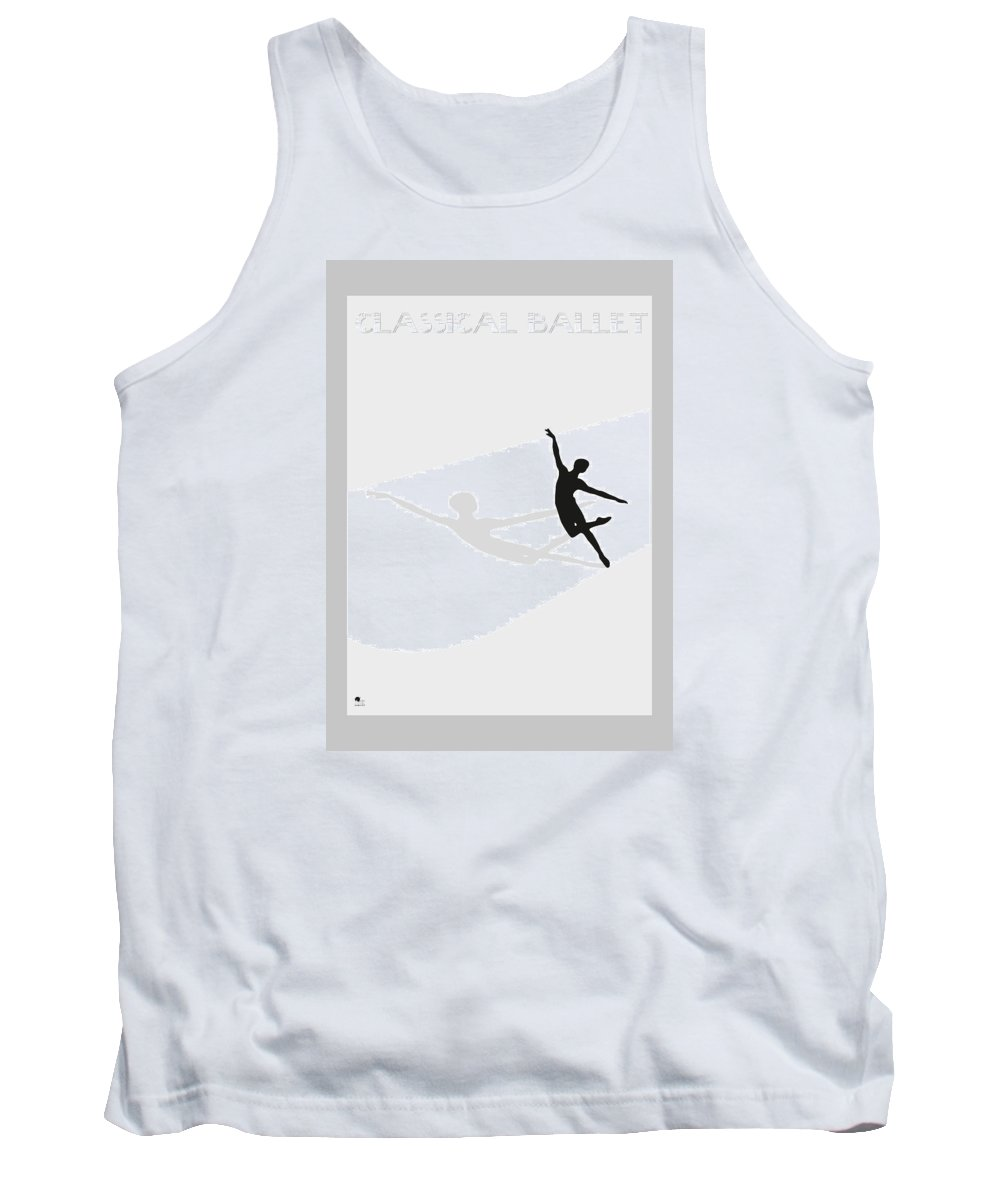 Ballet Tank Top featuring the digital art Ballet by Joaquin Abella