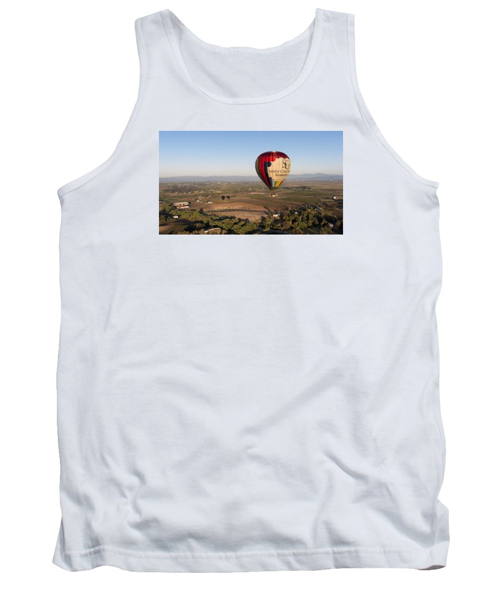 Baloon Tank Top featuring the photograph Baloon Riding Over Temecula Ca by Jaime Pomares