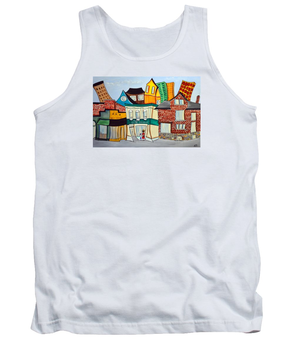 Abstract Tank Top featuring the painting Bank Street West by Heather Lovat-Fraser