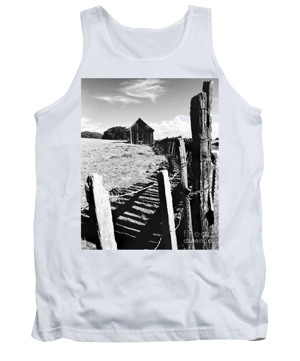 California Scenes Tank Top featuring the photograph Barn Fence by Norman Andrus