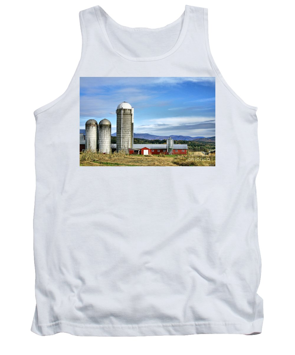 Rural Tank Top featuring the Barn With A View by Deborah Benoit