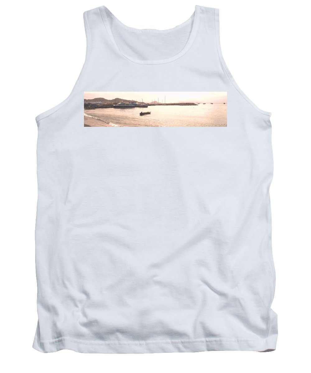 St Kitts Tank Top featuring the photograph Basseterre Harbour by Ian MacDonald