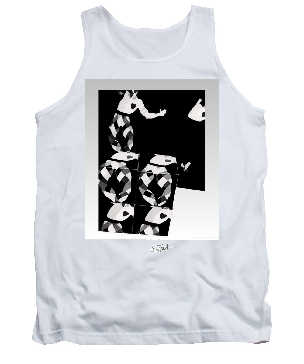 Dance Tank Top featuring the photograph Bauhaus Ballet 2 The Cubist Harlequin by Charles Stuart