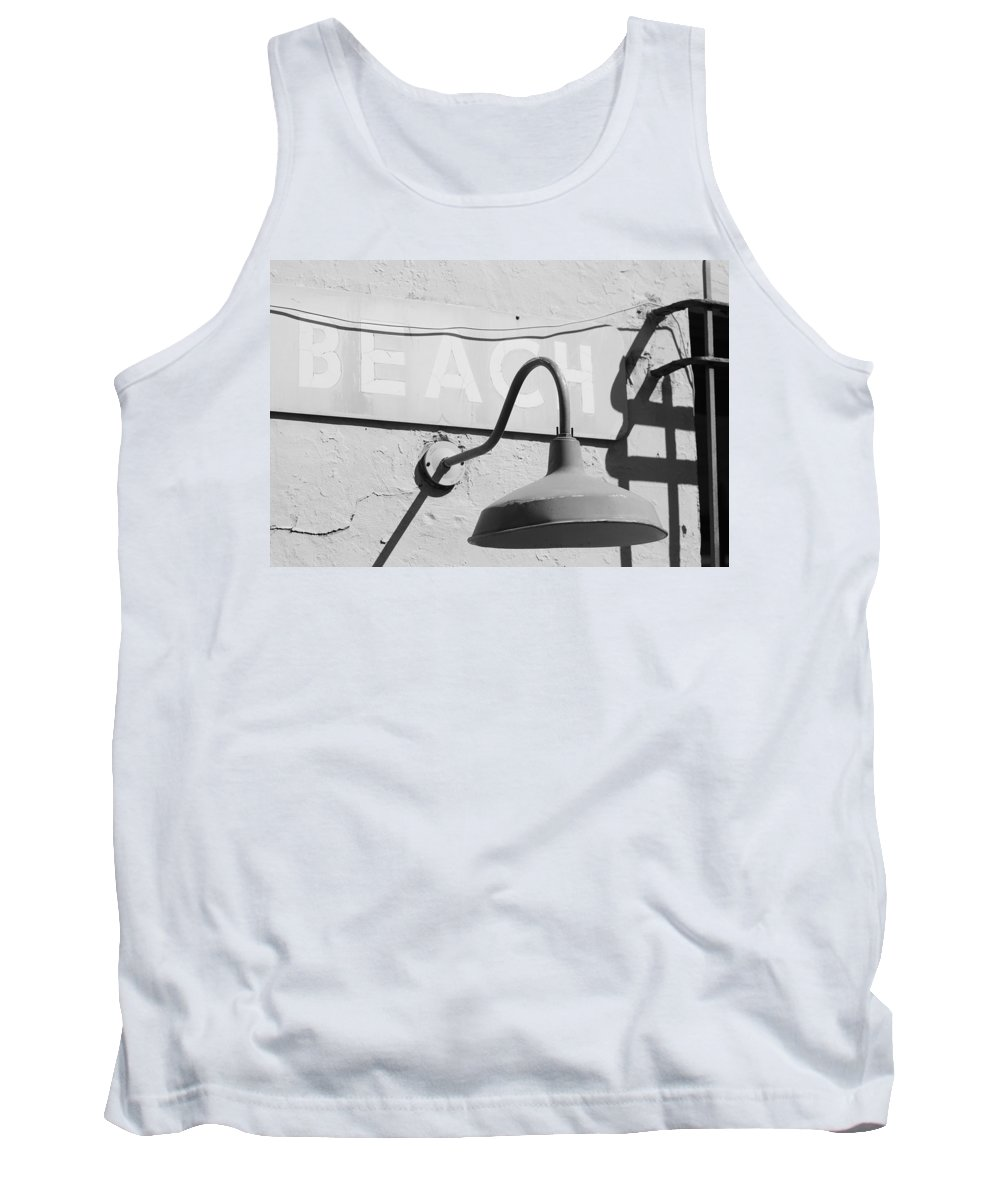Black And White Tank Top featuring the photograph Beach Light by Rob Hans