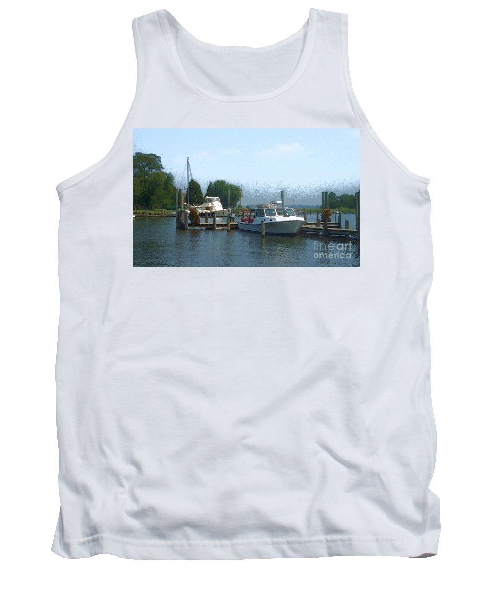 Boat Tank Top featuring the photograph Beached Buoys by Debbi Granruth