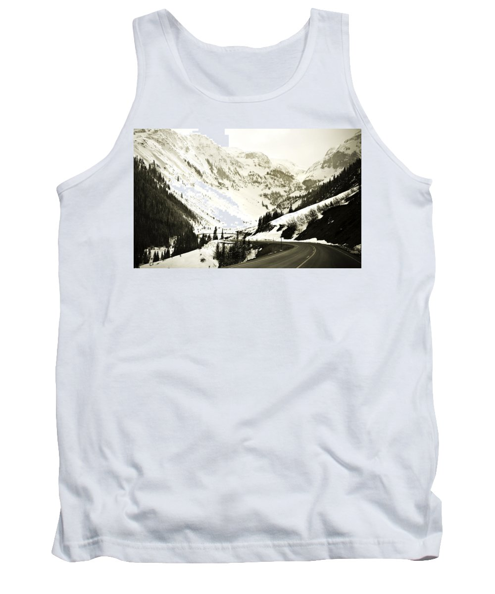 Mountains Tank Top featuring the photograph Beautiful Curving Drive Through The Mountains by Marilyn Hunt