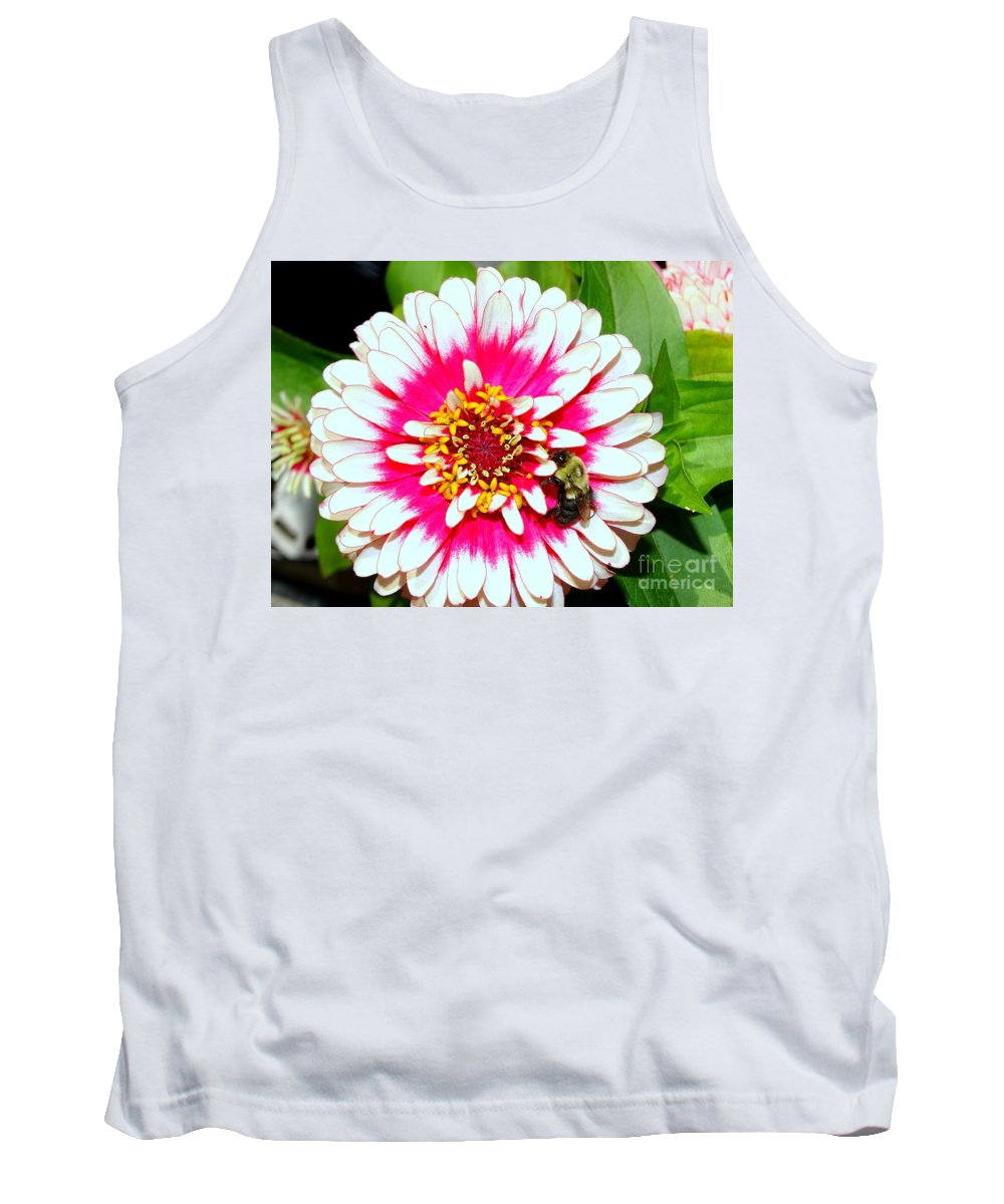 Nature Tank Top featuring the photograph Beauty And The Bee #1 by Ed Weidman