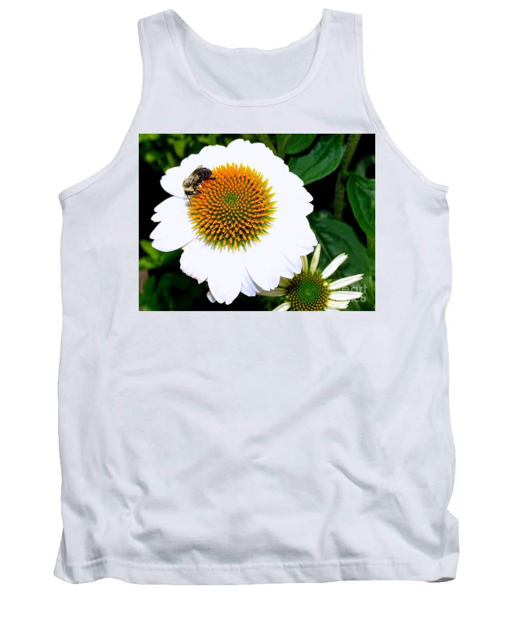 Nature Tank Top featuring the photograph Beauty And The Bee #2 by Ed Weidman