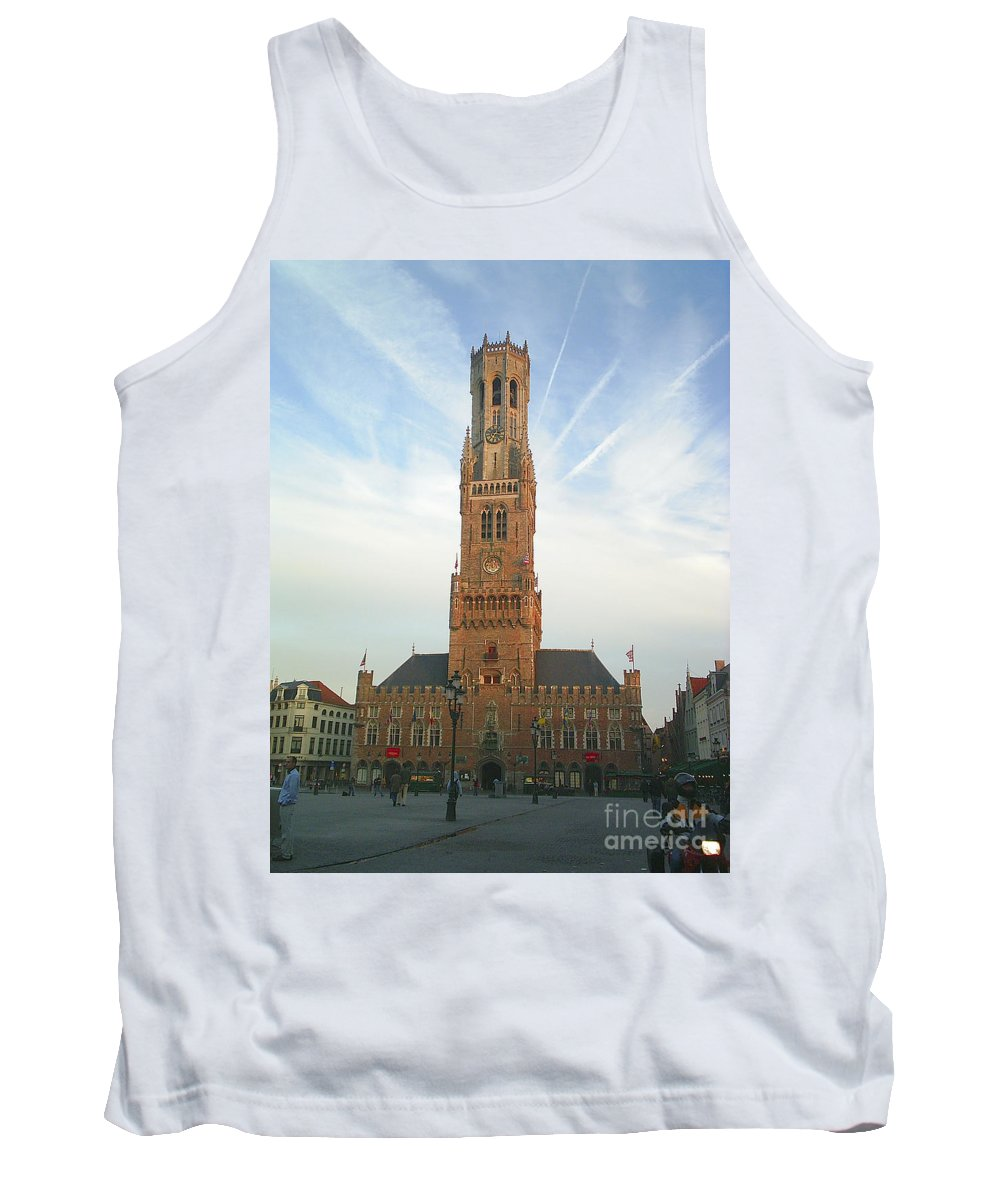 Belfry Of Bruges Tank Top featuring the photograph Belfry Of Bruges by Paul Maher