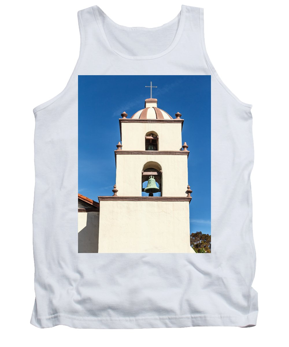 Photographs Tank Top featuring the photograph Bell Tower Mission San Buenaventura by Danny Goen