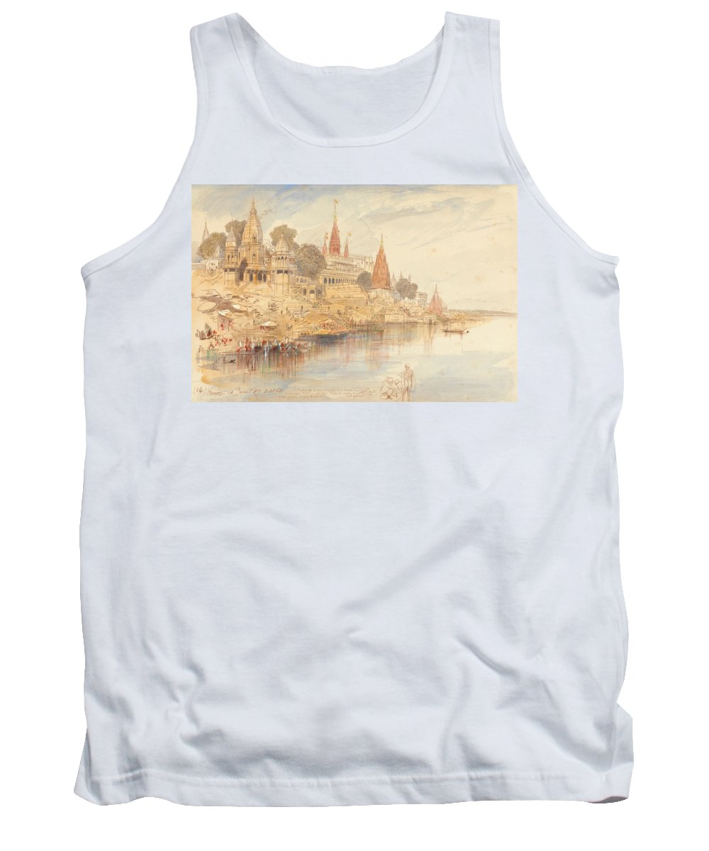 English Art Tank Top featuring the drawing Benares by Edward Lear