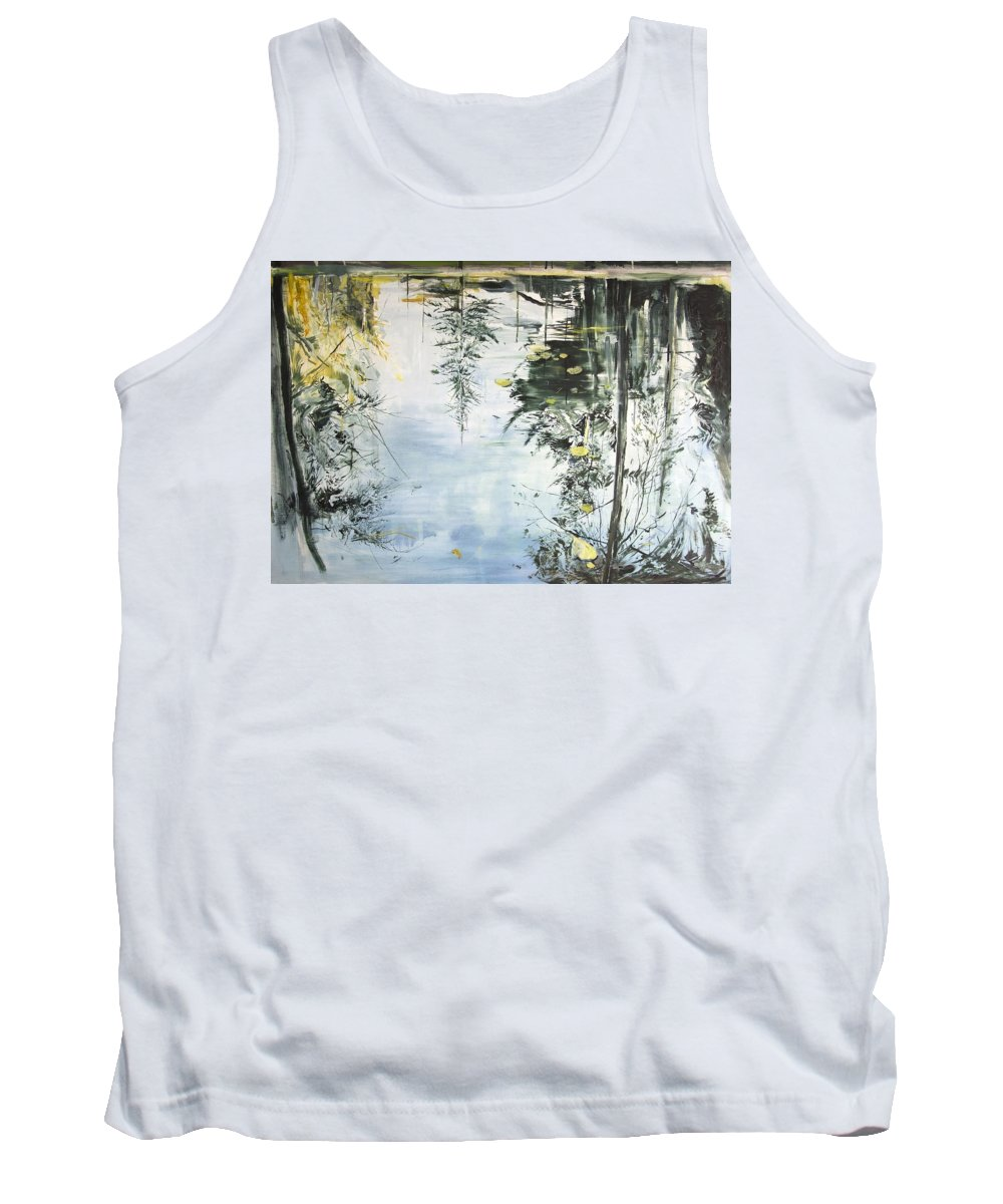 Water Tank Top featuring the painting Bern Pool by Calum McClure
