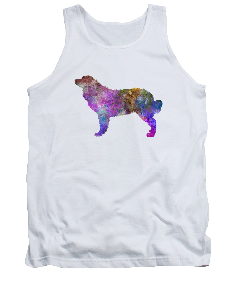 Bernese Tank Top featuring the painting Bernese Mountain Dog In Watercolor by Pablo Romero
