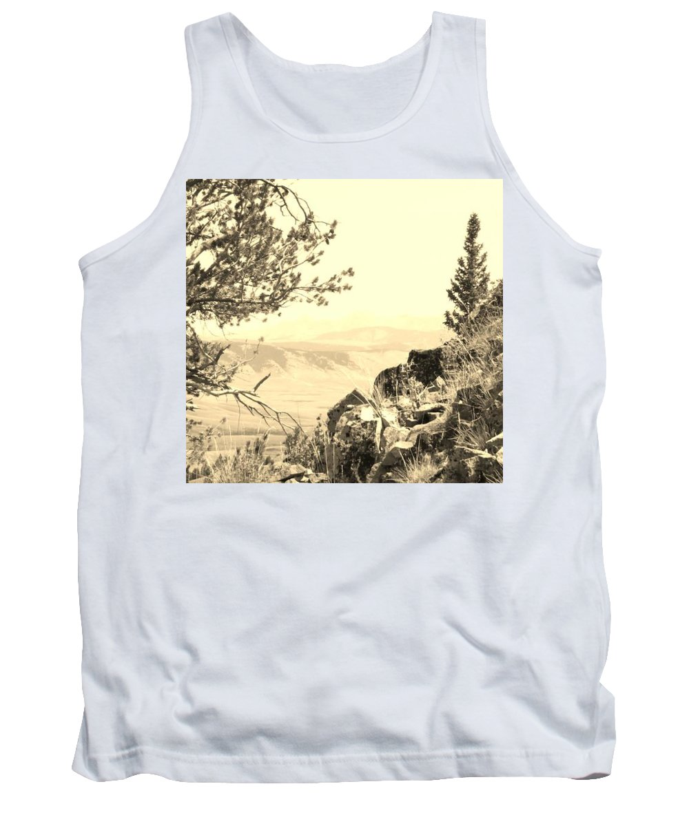 Landscape Tank Top featuring the photograph Beyond The Point by Fred Kamps