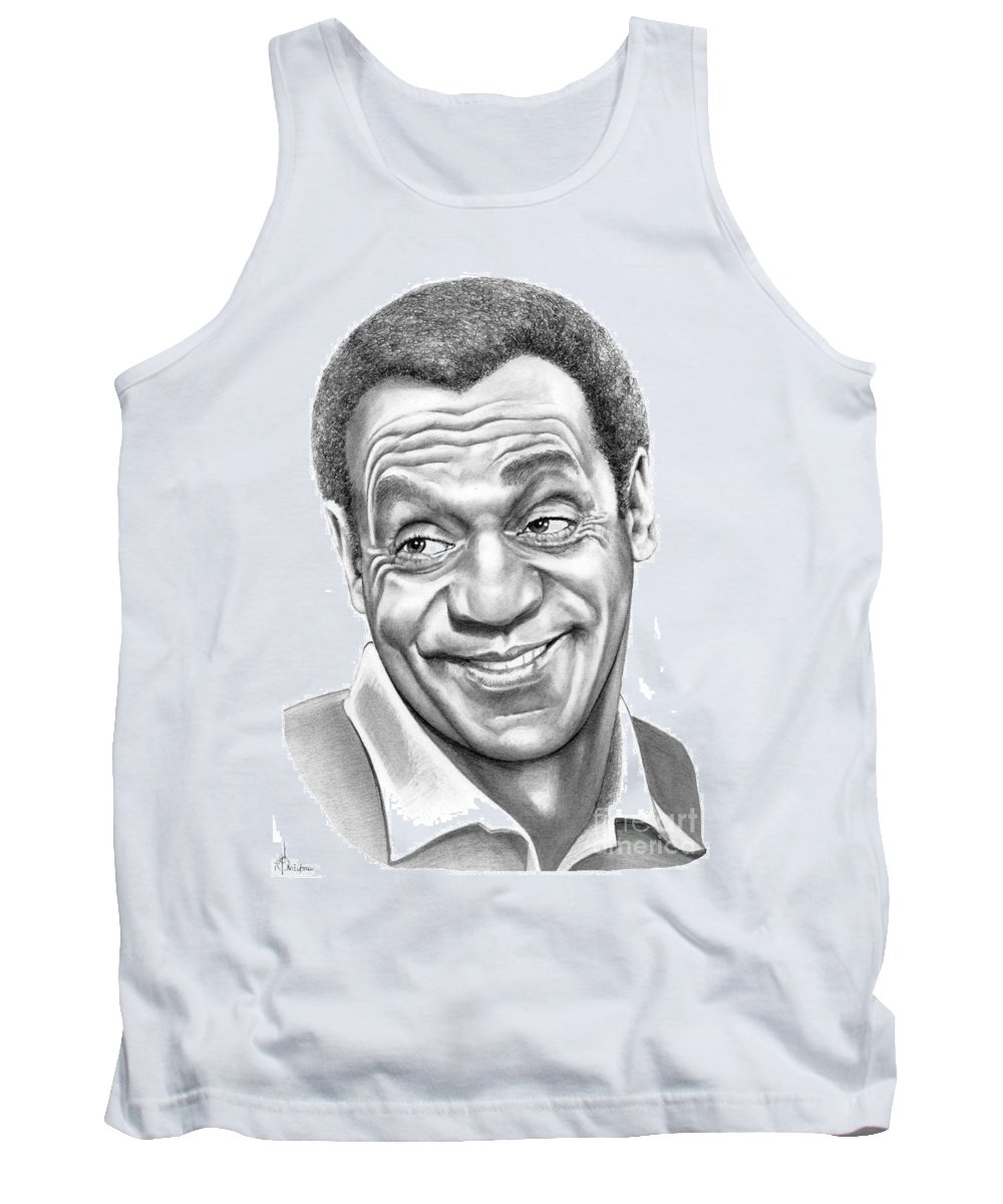 Pencil Tank Top featuring the drawing Bill Cosby by Murphy Elliott