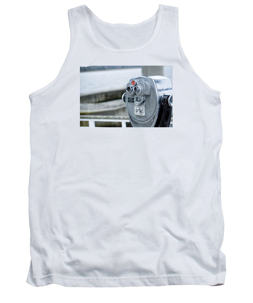 Glass Tank Top featuring the photograph Binoculars by Alexander Reed