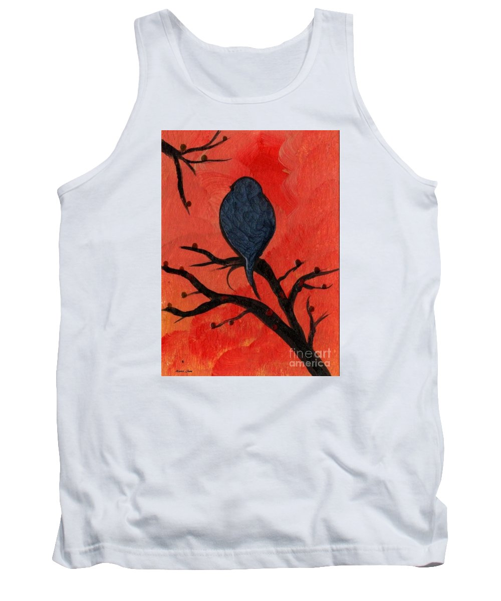 Bird Tank Top featuring the painting Bird Iv Wr by Mrs Wilkes Art