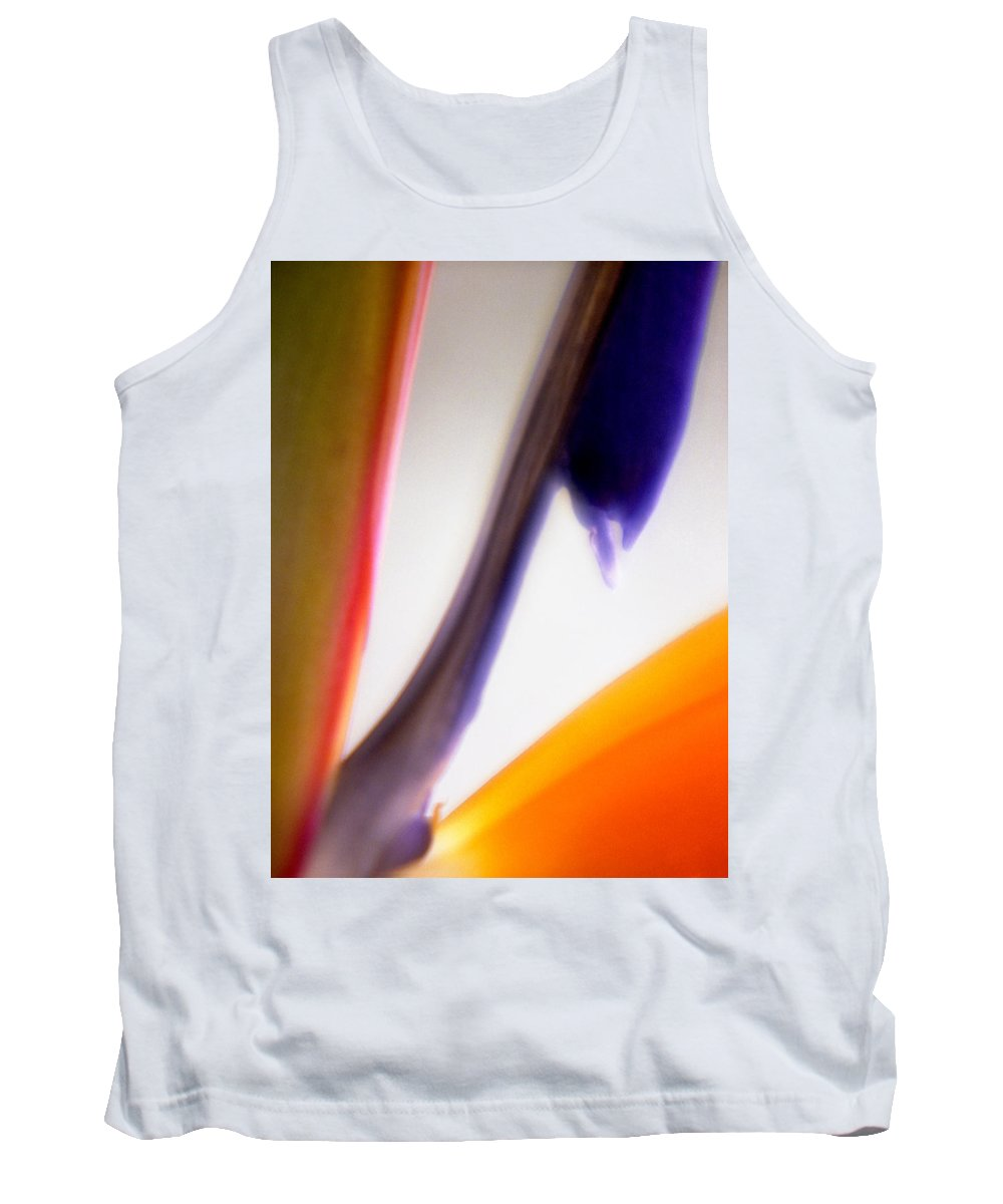 Macro Tank Top featuring the photograph Bird Of Paradise by Lee Santa