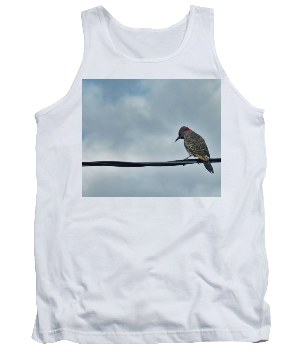 Bird Tank Top featuring the photograph Bird On An Electrical Wire... by R Fafard