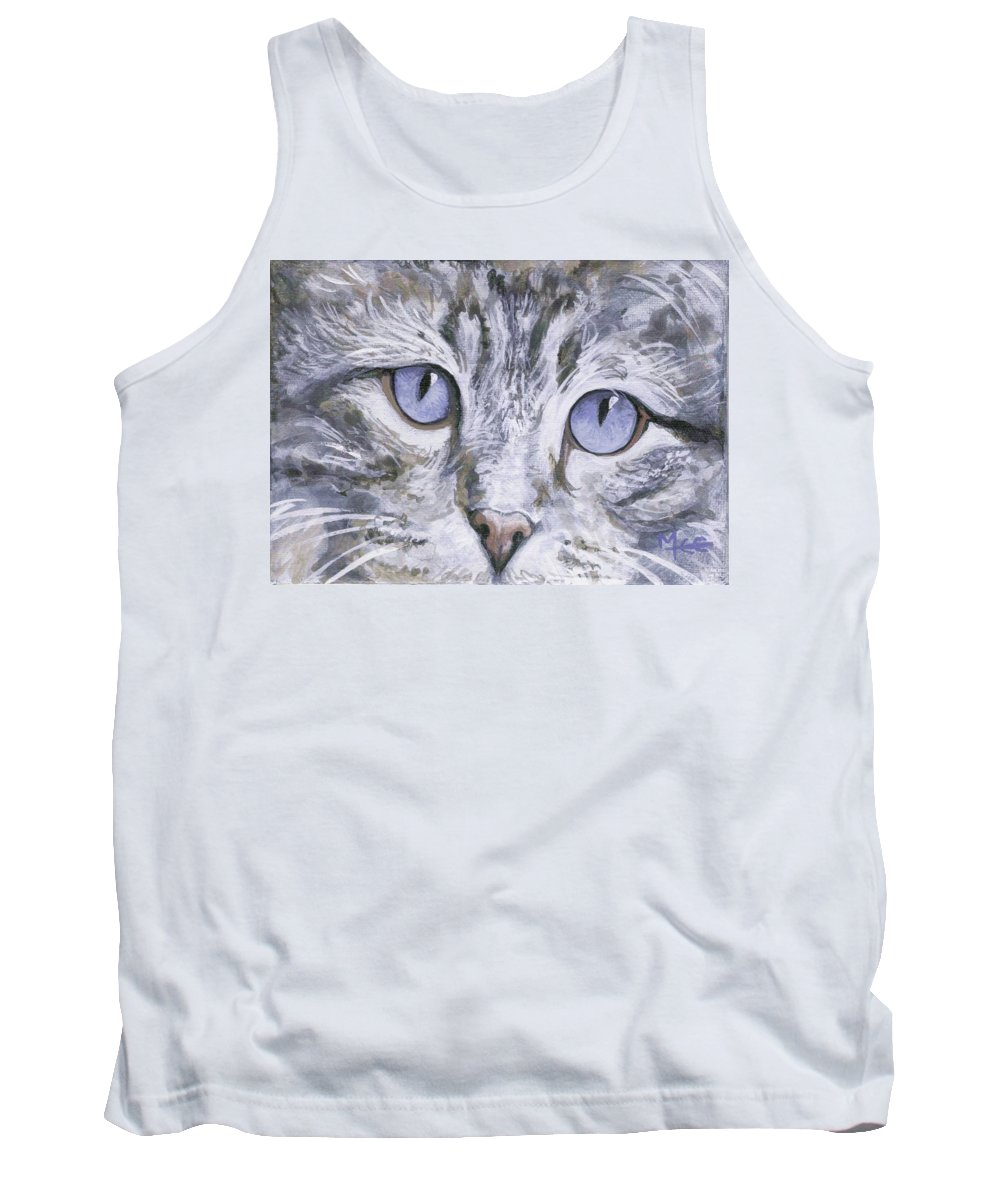 Charity Tank Top featuring the painting Bisous by Mary-Lee Sanders