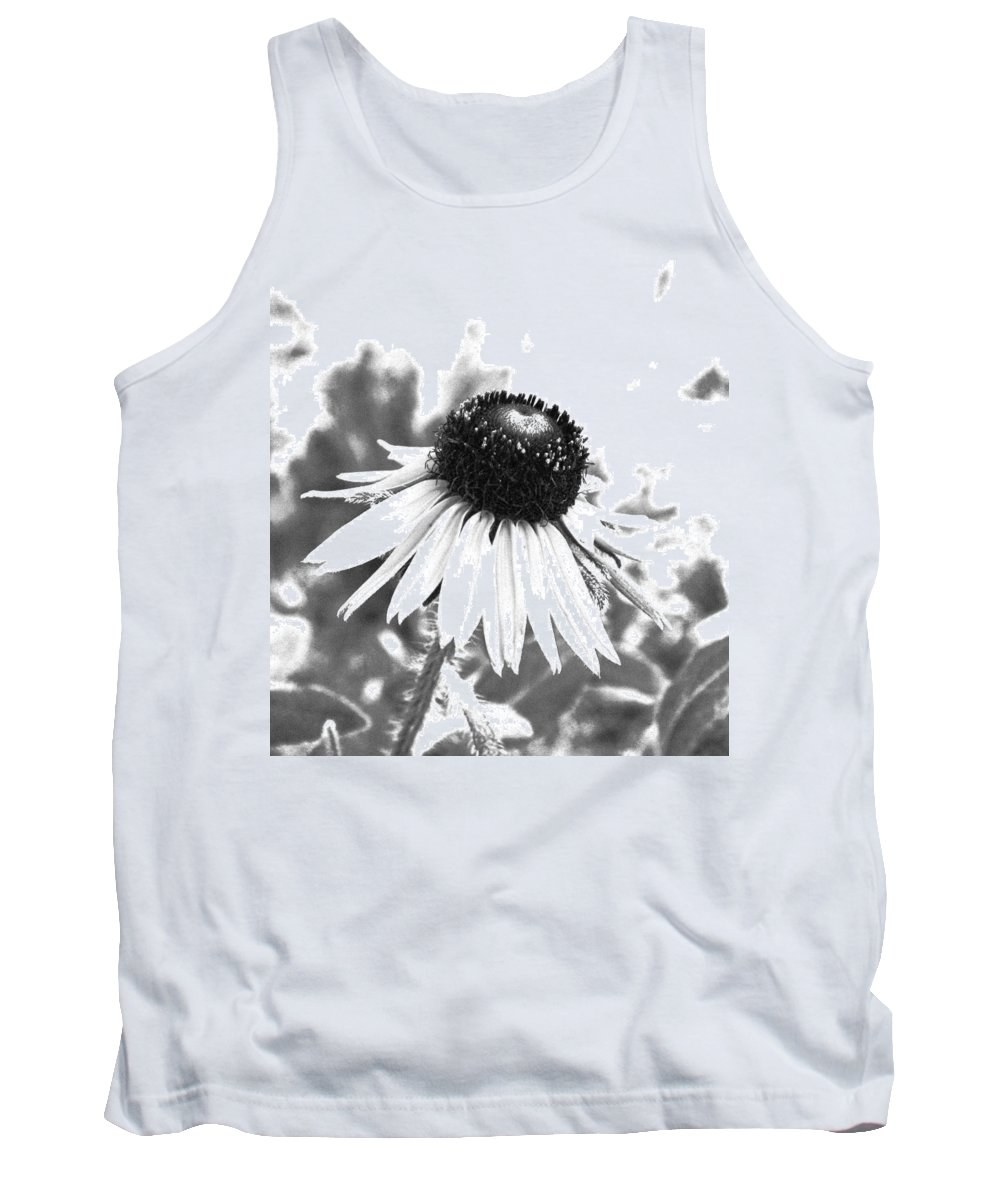 Black And White Tank Top featuring the photograph Black And White Daisy by Marna Edwards Flavell